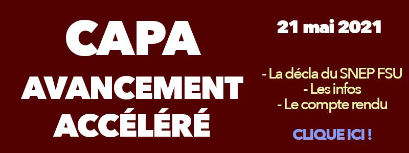 CAPA avancement accéléré mai 2021